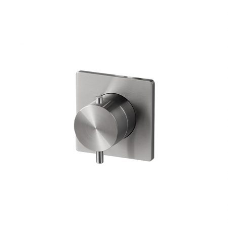 Thermo valve 1 outlet - Brushed Steel