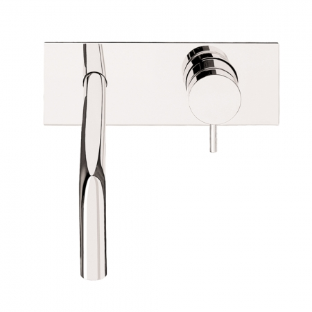 Basin 2 hole wall mixer with backplate