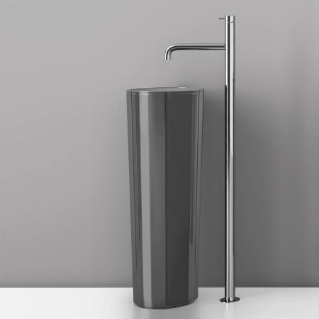 Basin floor standing mono mixer