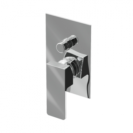 Manual Valve 2 Outlet - Chrome