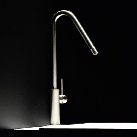 Basin tall mono mixer - side lever