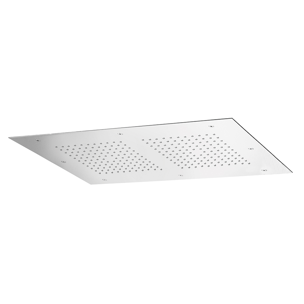 SKYFALL flush fitting ceiling mount rectangular shower plate