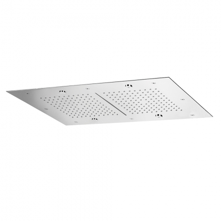 Flush fitting ceiling mount rectangular shower plate