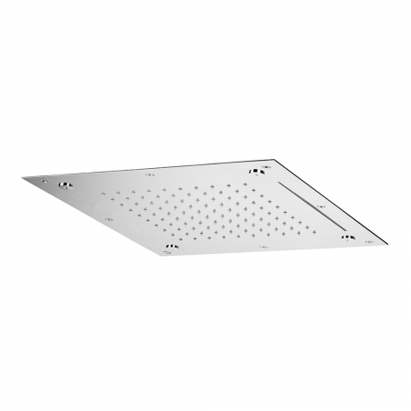 SKYFALL Flush fitting ceiling mount square shower plate