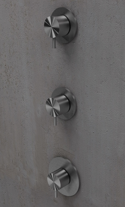 Flow Brushed Steel Mini Porta Shower Valve