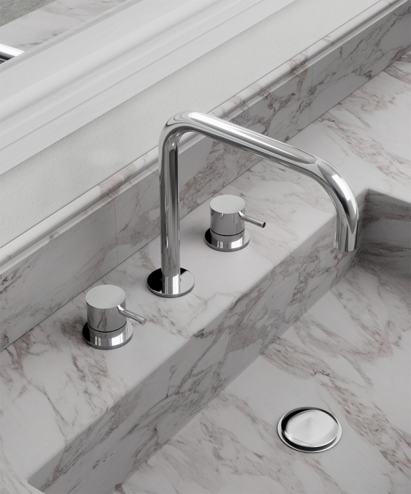 Flow Chrome 3 Hole Basin Mixer